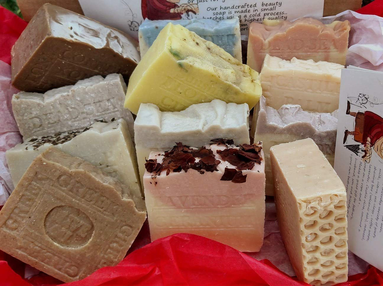 All Natural Handmade 12 Piece Soap Bar Gift Set - All Natural Artisan Soap