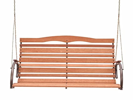 Peachy Amazon Com Premium Porch Swing Patio Swings Outdoor Wooden Onthecornerstone Fun Painted Chair Ideas Images Onthecornerstoneorg