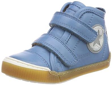 Bisgaard Klettschuhe, Baskets Mixte Enfant, Bleu (Bleu Ciel), 27 EU