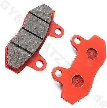 Scheiben Bremse BremsbelÄge In Rot Für 2 Kolben Bremssattel Z B Für China Roller 50 150cc 4 Takt 139qma 152qmi 157qmj Motoren Auto