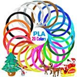 Nulaxy 3D Printer/3D Pen Filament, 1.75mm PLA Filament Refills Pack of 20 Different Colors, Each Color 16 Feet, Total 328 Feet, Bonus 4 Glow in The Dark