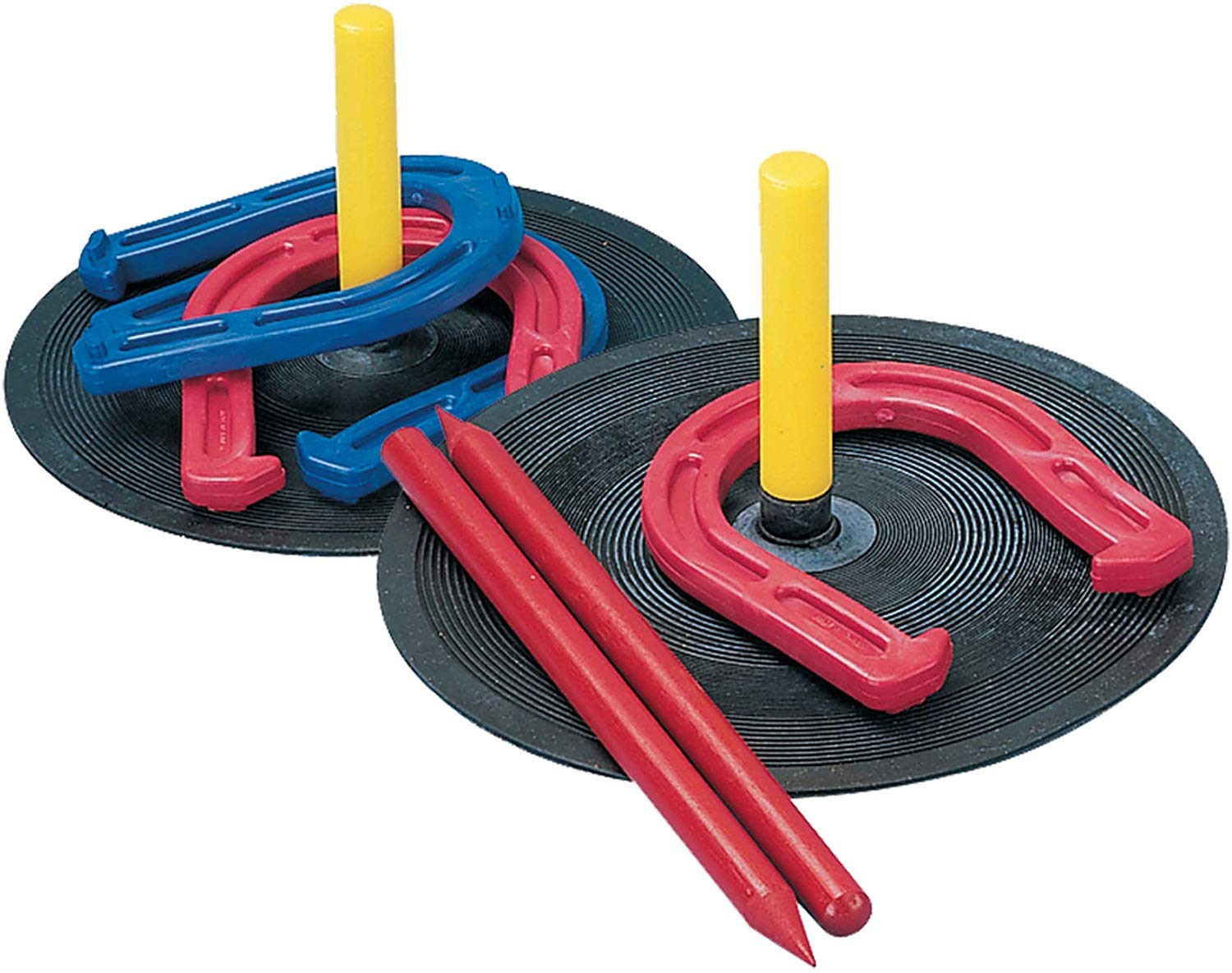 Champion Sports Rubber Horseshoe Set (Your Choice) by Champion Sports