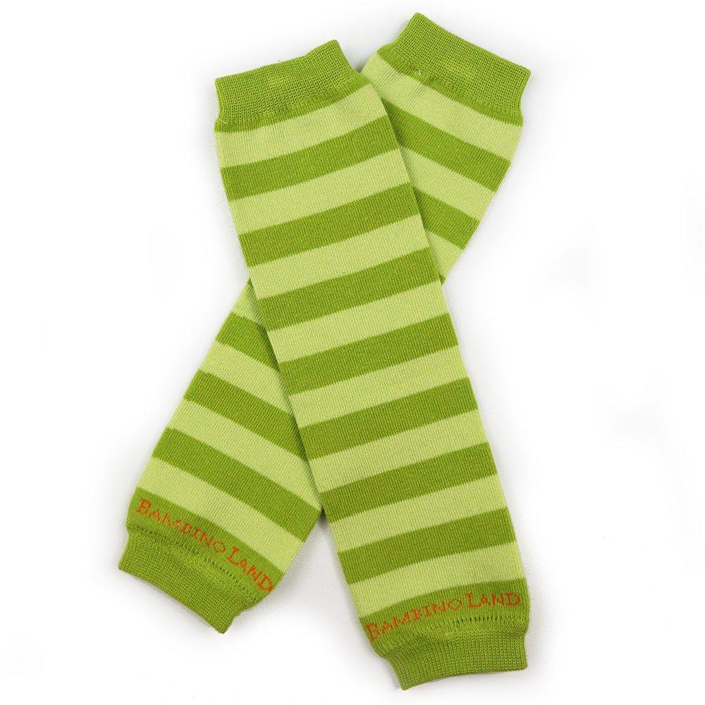 Bambino Land Leg Warmers Stripes (Green & Lime)