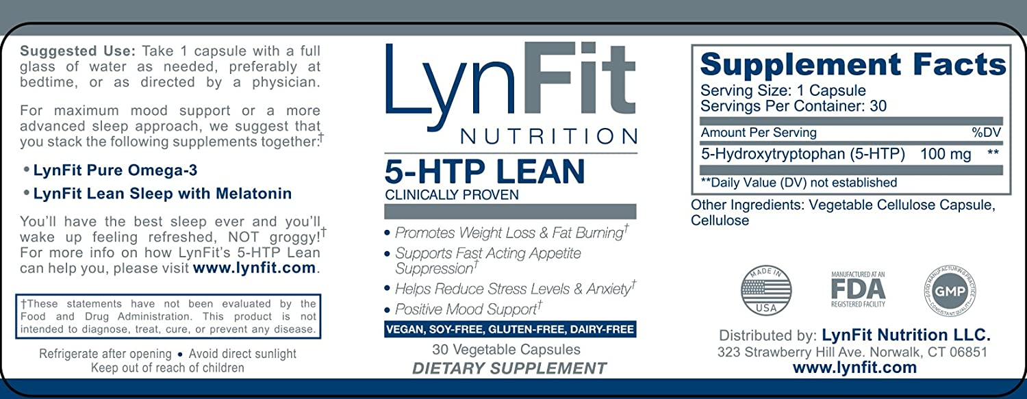 Amazon.com: 5-HTP Lean: Clinically Proven to Promote Weight Loss & Fat Burning While Killing Cravings Fast (30 capsules): Health & Personal Care