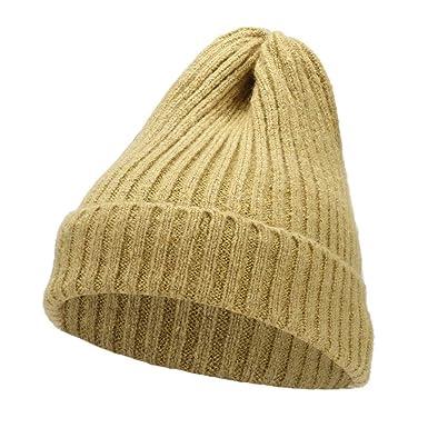 BHYDRY Mujeres Otoño Invierno Beanie Sombrero Tejer Lana Sombreros cálidos Orejeras Sombrero: Amazon.es: Ropa y accesorios