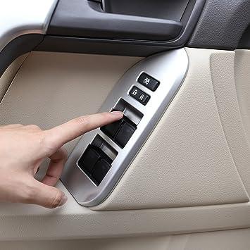 4 x para 2010 - 2018 Land Cruiser Prado FJ150 150 puerta interruptor ventana cubierta interior reposabrazos panel embellecedores coche accesorios LHD: ...