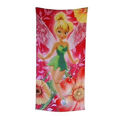 Disney Peter Pan campanilla rosa Club Fibra reactiva toalla de playa – Floral lanzar, diseño