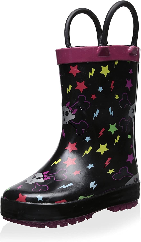 lilly Girls Light-Up Rubber Rain Boots