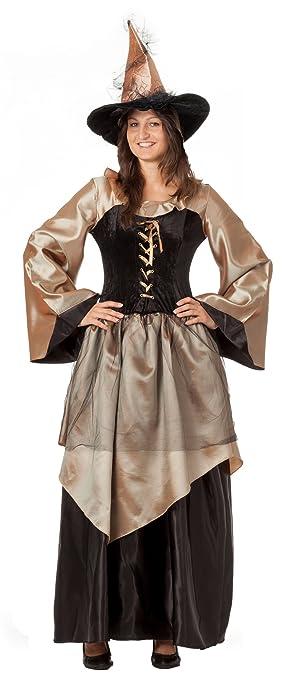 8a9ad86382c5 R-Dessous Hochwertiges Hexenkostüm mit Hut Zauberin Feen Mittelalter Kleid  Damen Kostüm Halloween Karneval Groesse: L/XL