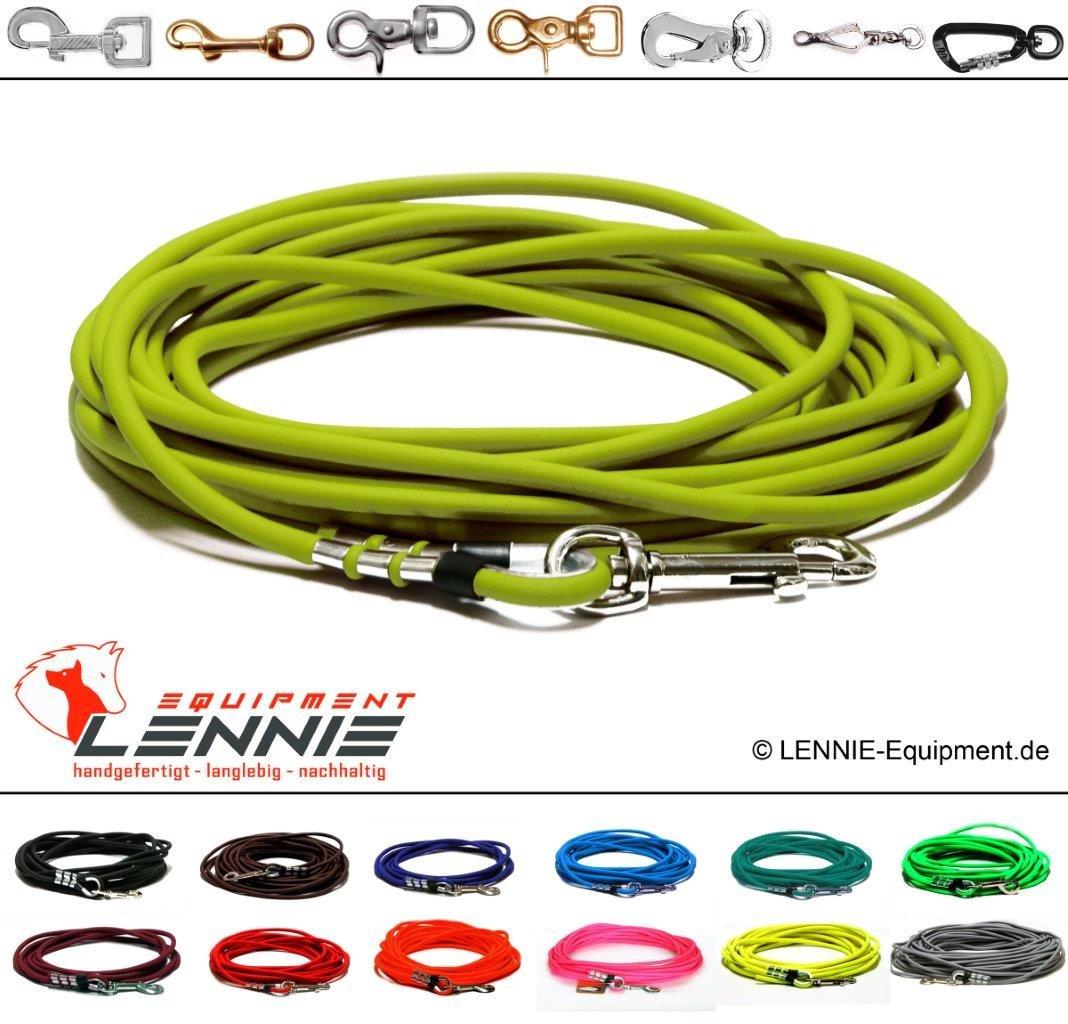 Lennie Longe pour chien en BioThane® ronde Sans dragonne Largeur 8 mm
