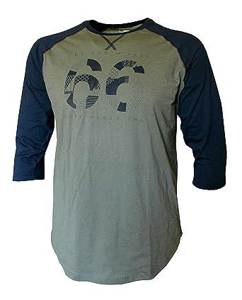 3903c1bc59e80 The North Face Mens 3 4 Sleeve Baseball Crew Neck Tee Cotton Shirt (Small