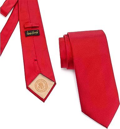 """Men/'s Classic US Constitution Necktie 3.75/"""" Wide Self-Tied Silk Dark Navy Blue"""