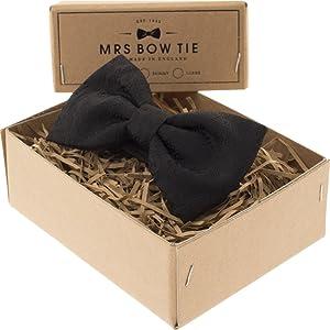 Mrs Bow Tie Buckingham Ready-Tied Bow Tie - Black