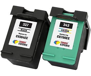 TONER EXPERTE® Reemplazo para HP 337 HP 343 2 Cartuchos de Tinta ...