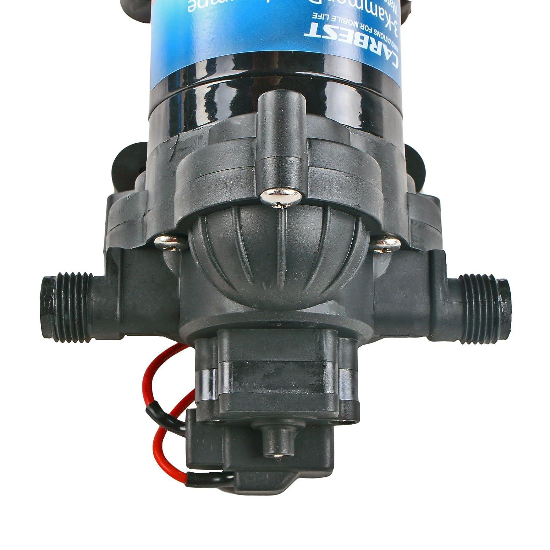 Pompe /à eau 12 V 10 l//minute 2,8 bar avec pr/é-filtre et membrane /à 3 compartiments