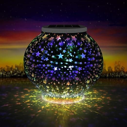 Lámpara Solar, Cambia de Color Solar Luces de Noche, Colorida ...