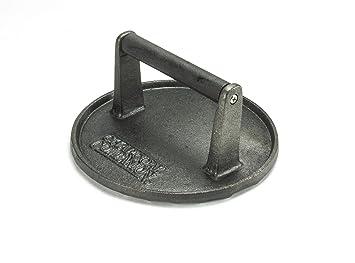 Charcoal Companion Prensa para Barbacoa Redonda de Hierro Fundido 18 cm de diámetro