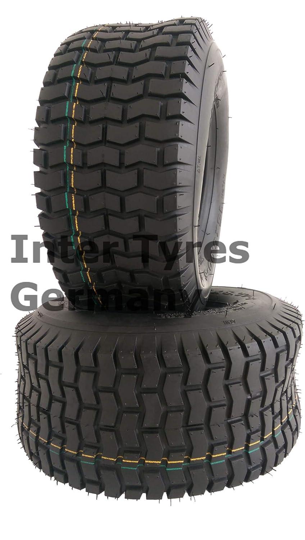 2 neum/áticos de 13 x 6,50-6 S2101 NaRubb 13 x 6,50-6 4PR para tractor cortac/ésped