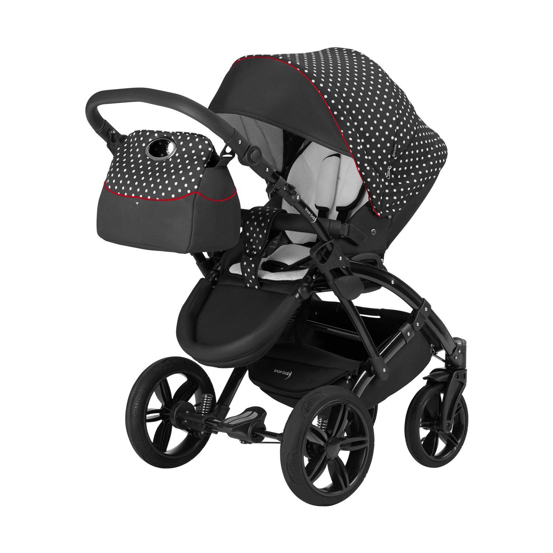schwarz-wei/ß Knorr-Baby 33000-02 Kombikinderwagen Voletto Tupfen Limited Edition
