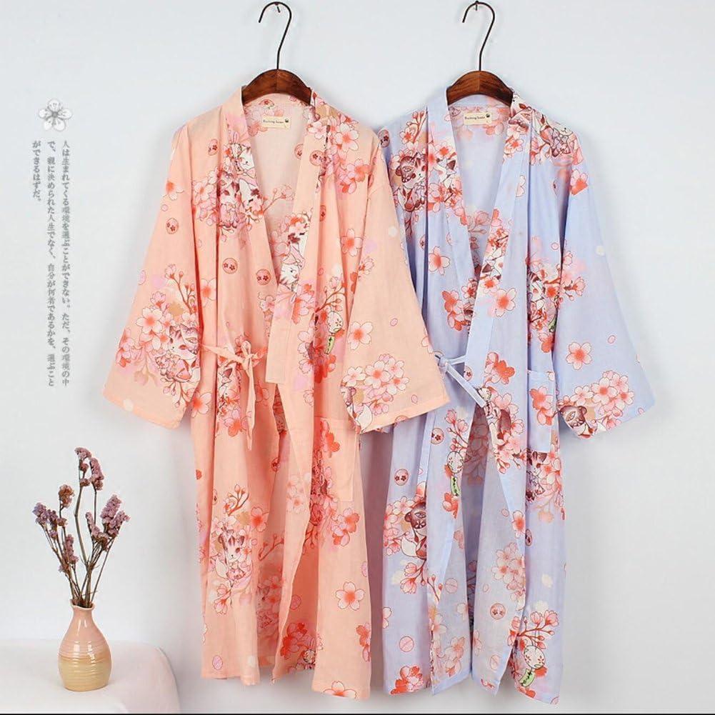 Fancy Pumpkin Abito da donna giapponese Abito in cotone Kimono Pigiama Camicia da notte Taglia L