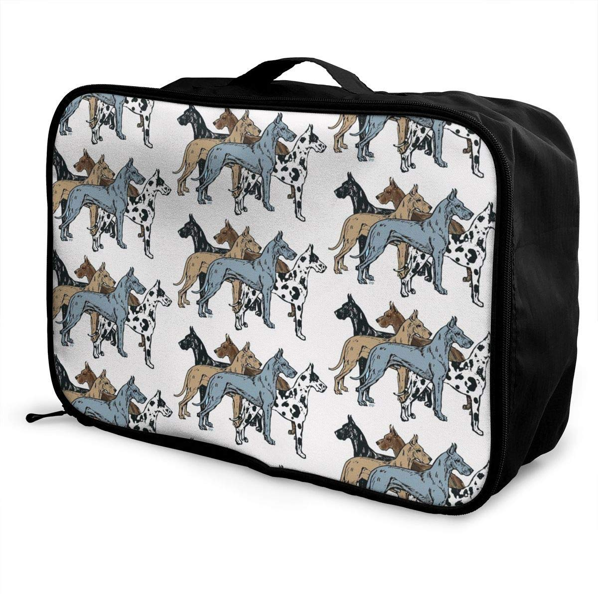 Great Dane Colors Upgraded Travel Lightweight Waterproof Foldable Storage Carry Luggage Duffle Tote Bag JTRVW Luggage Bags for Travel