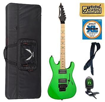 Dean Guitars CZONE II F NG Custom zona II Pink Floyd diseño guitarra eléctrica, color verde nuclear LW Case Bundle: Amazon.es: Instrumentos musicales