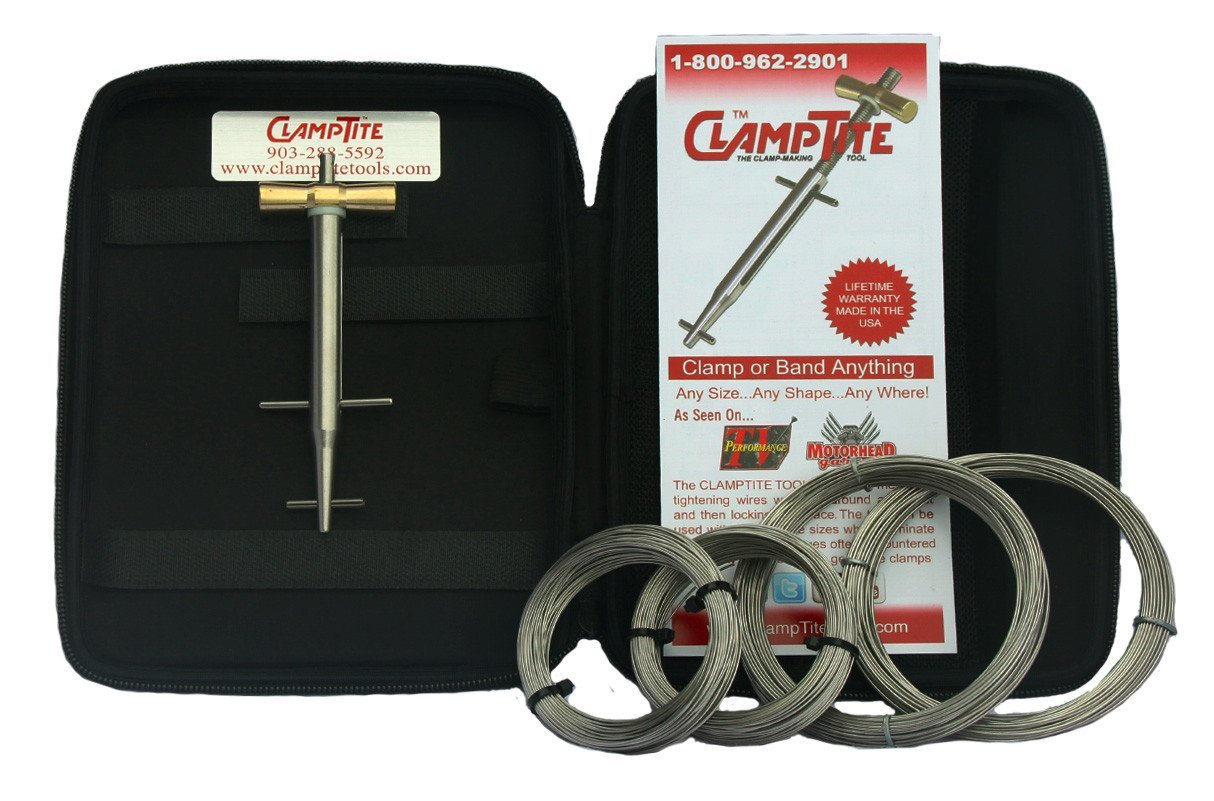 ClampTite CLT01L 5 1//4 inch Premium Marine Clamp Tool Stainless Steel with Bronze Nut Bundle Includes a Keychain Light