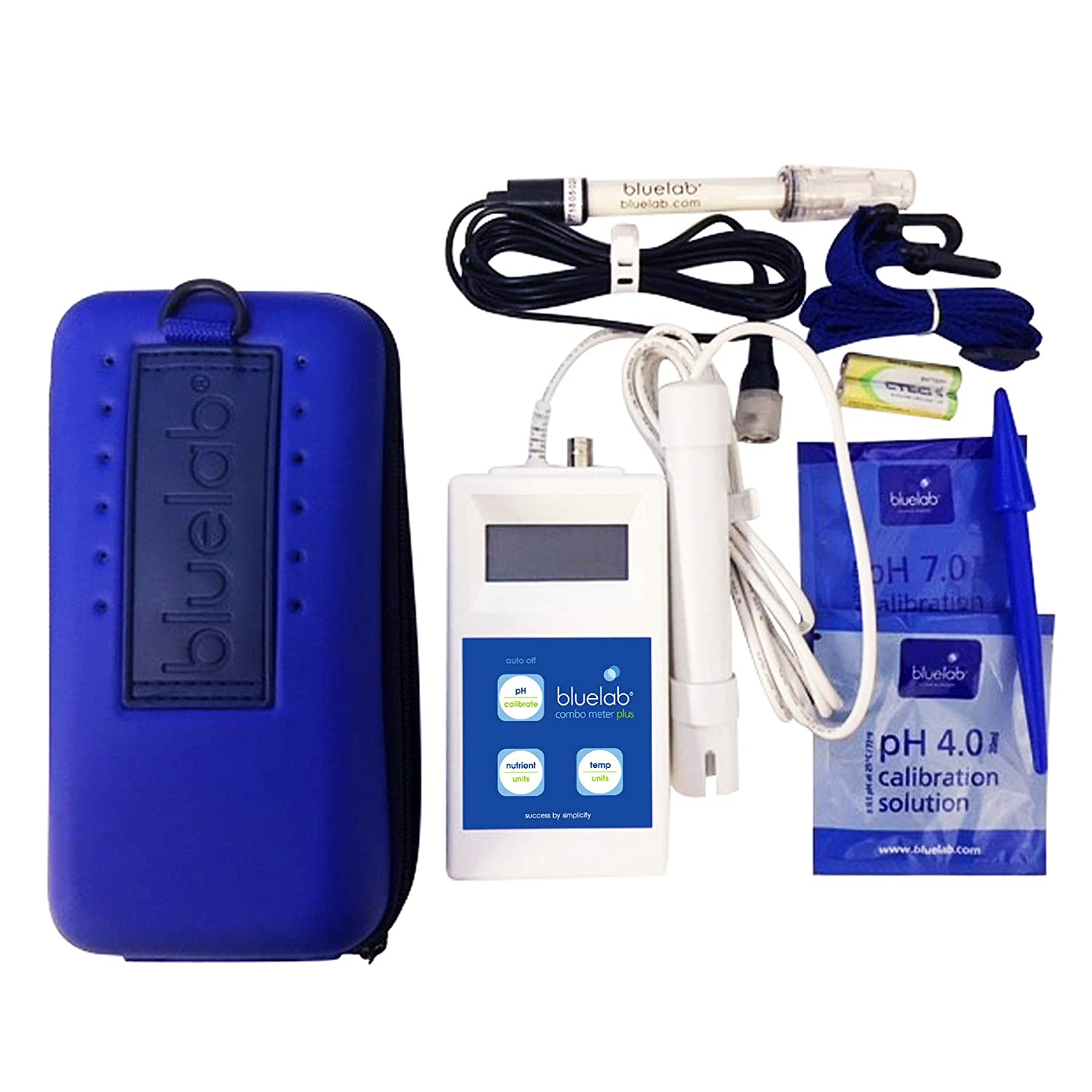 Bluelab Combo Meter Plus Conductivity /& Temperature in Soil /& Plants Accurate pH Measurements Handheld Digital Hydroponic Nutrient and pH Meter for Measuring pH Levels Bonus Carry Case Included