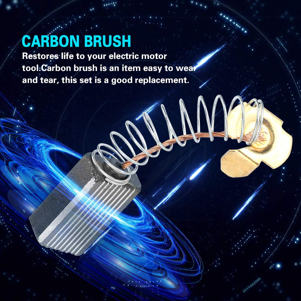 Carbon Brush 20PCS 61015mm 103 Motor Carbon Brush Conductive Carbon Brush Replacement for Electric Motor