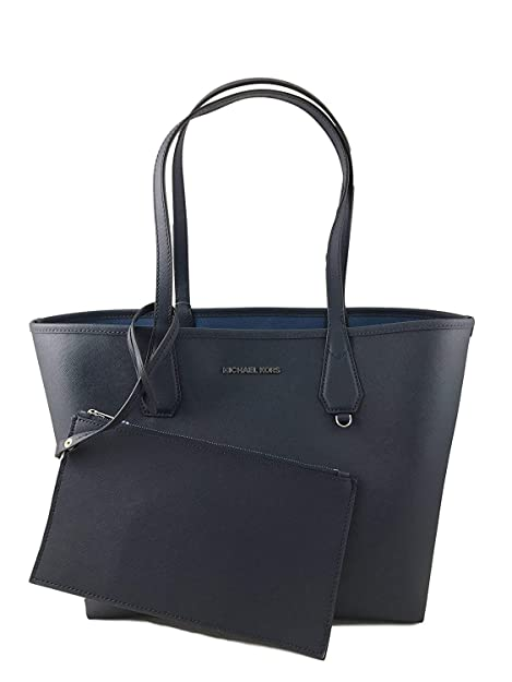 ecfa0ee2732ed2 Amazon.com: Michael Kors Candy LG Reversible PVC Tote Bag Black/Pearl Grey:  Shoes