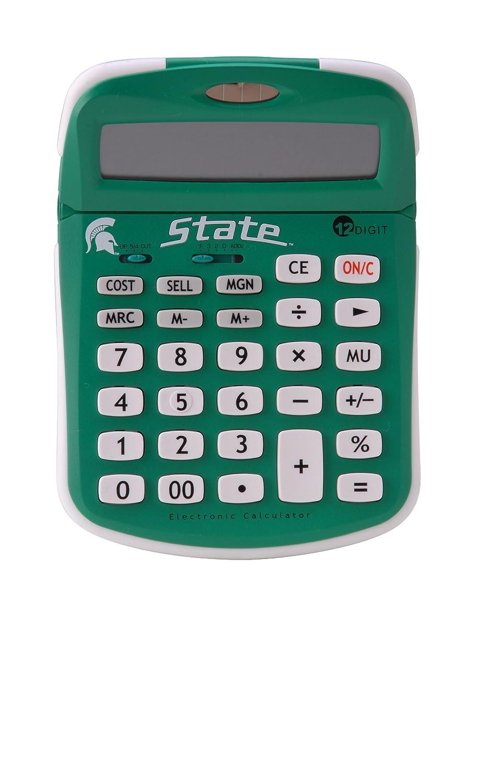 Collegiateシリーズ00501 Michigan State solar-powered電卓学校ロゴとカラーで   B002KQ5BLU