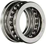SKF 51107 Single Direction Thrust Bearing, 3 Piece, Grooved Race, 90° Contact Angle, ABEC 1 Precision, Open, Steel Cage, 35mm Bore, 53mm OD, 12mm Width, 8430lbf Static Load Capacity, 3910lbf Dynamic Load Capacity
