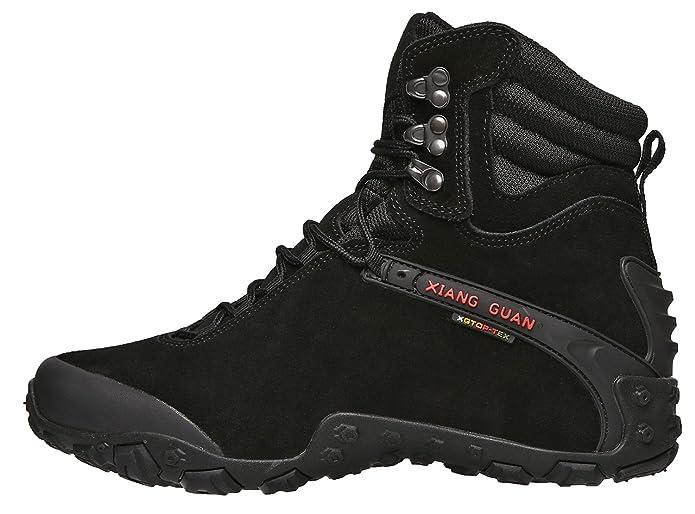 1f7b31670a5 XIANG GUAN Men's Outdoor High-Top Waterproof Trekking Hiking Boots