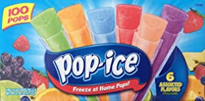 Pop Ice Assorted Flavors, 100-Count
