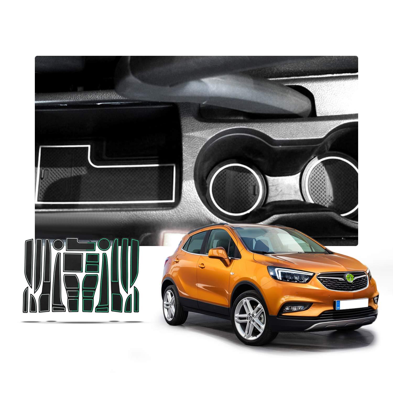 Tapis de Rangement antid/érapant pour Porte int/érieure de Voiture Tapis de Coffre D/écoration de Voiture avec Logo pour Opel Mokka X 2016-2017 2018 Anti-poussi/ère Anti-Torsion RUIYA