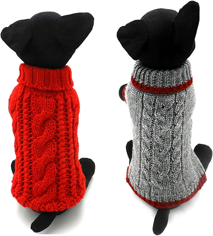 Texas A/&M University Knitted Turtleneck Pet Sweater