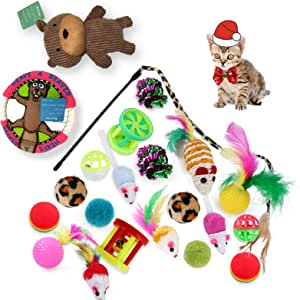 wadika pet Toy Cat Toy Set 23PCS for Cat, Kitty, Puppy