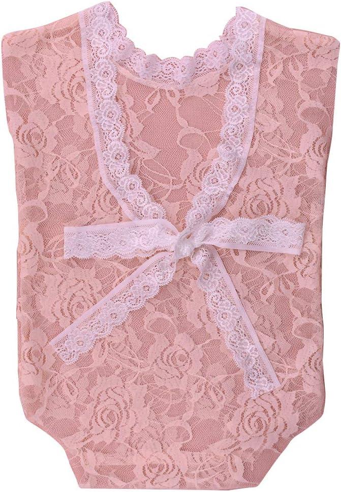 Amorar Newborn Baby Cute Lace Bodysuit V Back Bowknot Romper Baby Girls Photography Jumpsuit