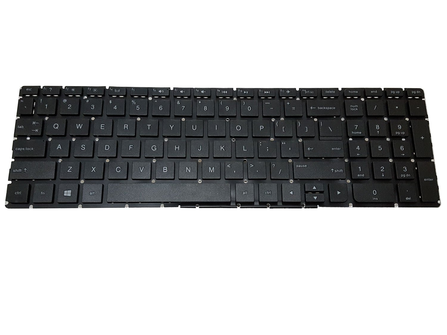 Notebook Keyboard For HP 15-ay 15-ay000 15-ay100 US Black keypad No frame No backlit