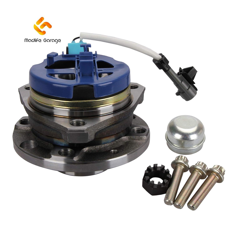 Madlife Garage Front 4 STUD Wheel Bearing 1603209 w//ABS Seed Sensor For 1998-2006 Astra G MK4