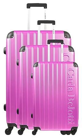 Carla Belotti Juego de maletas, fucsia (Rosa) - BD-4089: Amazon.es: Equipaje