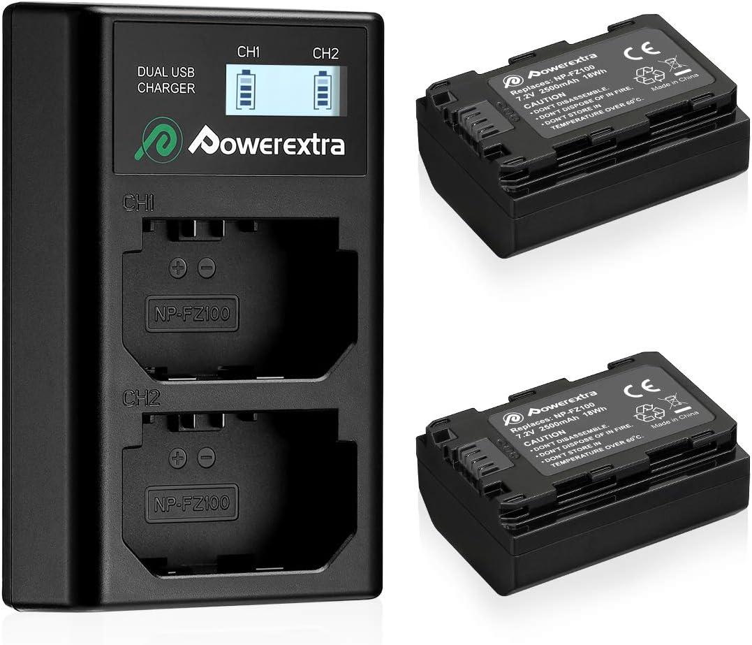 Powerextra Lcd Dual Ladegerät Mit 2 Stück Ersatzakku Kamera