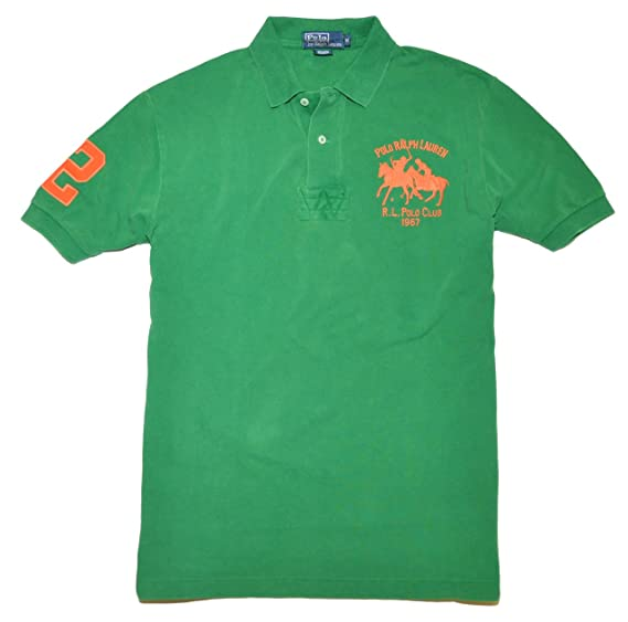 bdfdbca7c Image Unavailable. Image not available for. Color: Ralph Lauren Olo Men Classic  Fit Big Pony Logo Shirt (Medium)