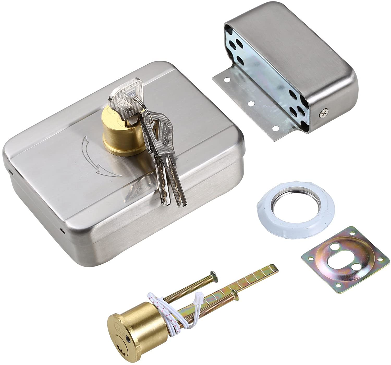 Silent Safe Intelligent Motor Electric Lock W/signal Self-closing Lockable Home Improvement