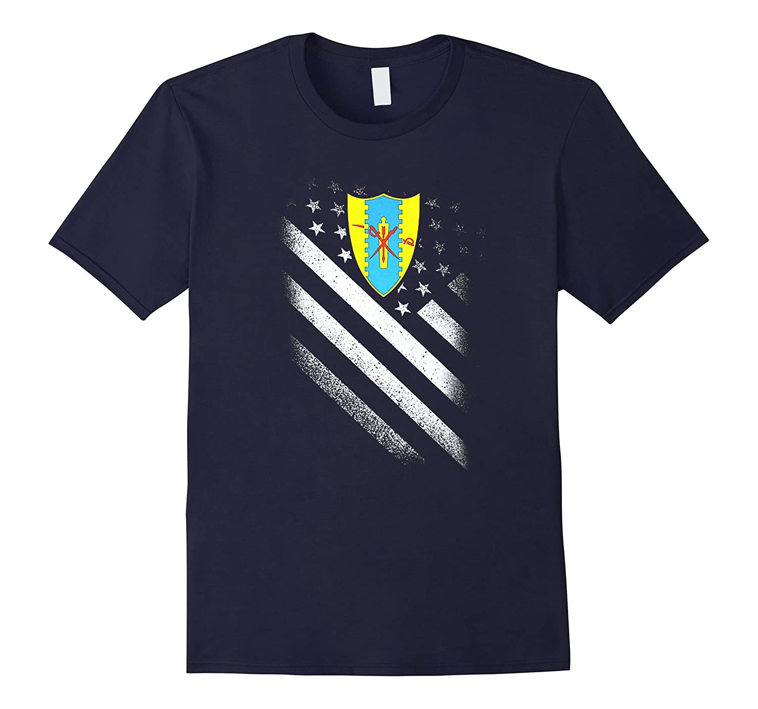 4TH CAVALRY REGIMENT AMERICAN FLAG TSHIRT-4LVS