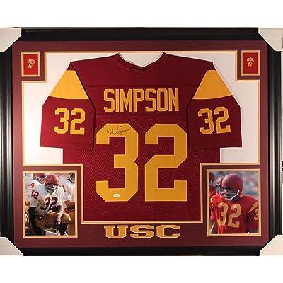 O.J. Simpson Autographed Jersey - OJ FRAMED w WITNESSED COA - JSA Certified  - Autographed College c6babfa4a