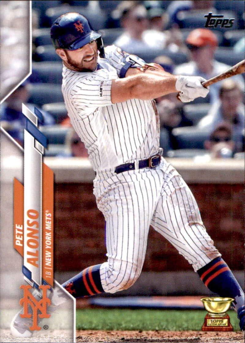 Pete Alonso 2020 Topps Fire Base set Baseball Card New York Mets Star Player