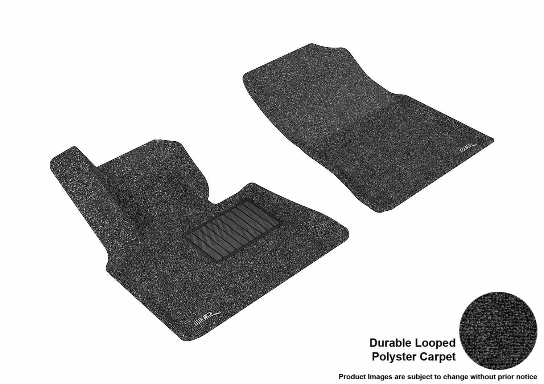 Models Classic Carpet 3D MAXpider Second Row Custom Fit All-Weather Floor Mat for Select BMW X5 E53 L1BM00522209 Black