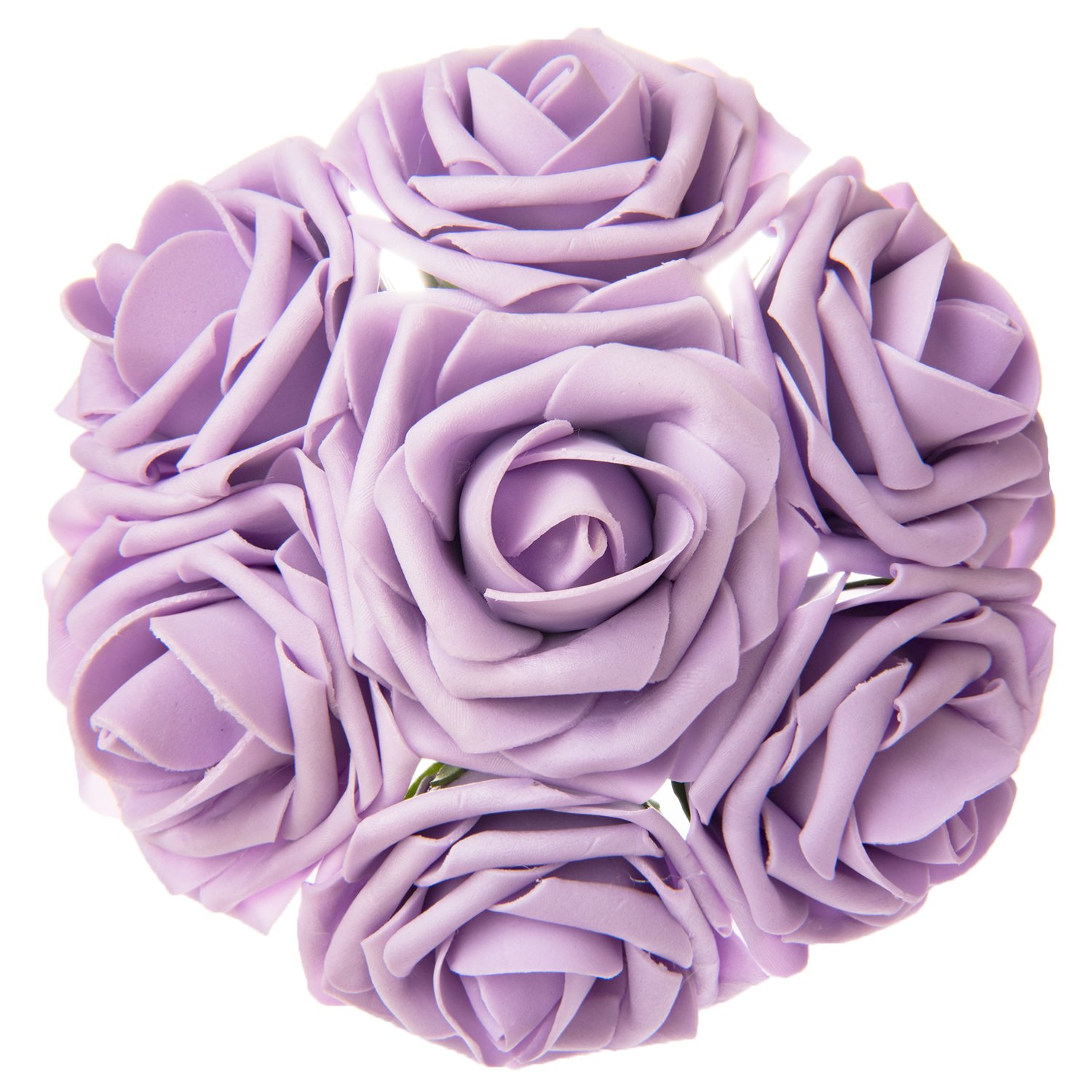 Best rated in artificial flowers helpful customer reviews amazon lings moment artificial flowers lilacpale purple roses 50pcs real looking fake roses w mightylinksfo Image collections