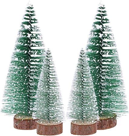 Arbres de No/ël artificiels Mini D/écoration de No/ël Fournitures Petite Simulation Plant Enneig/é Arbres de No/ël de Bureau Vert